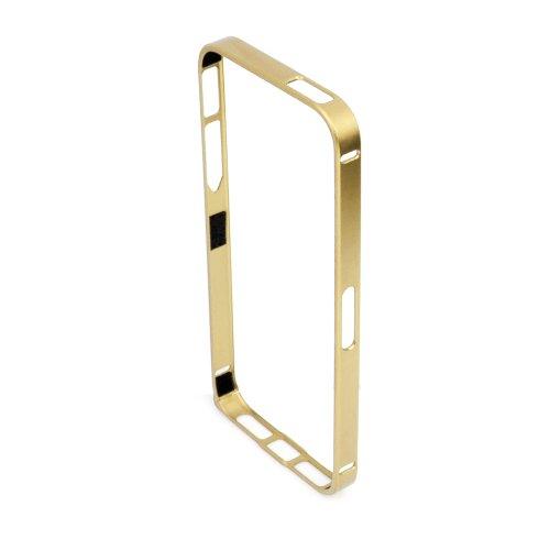 Aluminium Apple Iphone 5S / 5 Handyhülle inkl. Gratis Displayschutzfolie Farbe rot gold