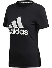 adidas W MH BOS tee T-Shirt, Mujer, Black, M