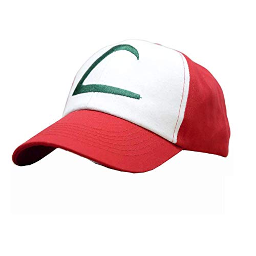 Pokemon Ash Ketchum Hut Kappe Embroidered Hat One Size-Style A (Authentisches Cosplay Kostüm)