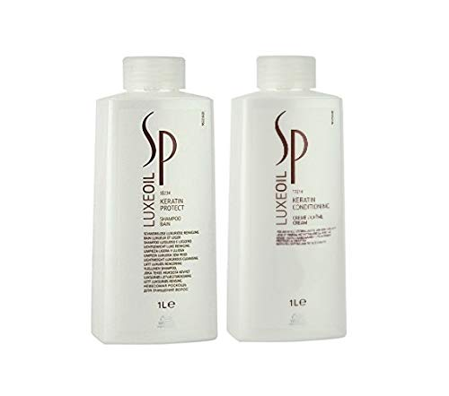 Wella Wella SP Luxe Oil Keratin Protect Shampoo 1000ml + Nourishing Cream 1000ml -