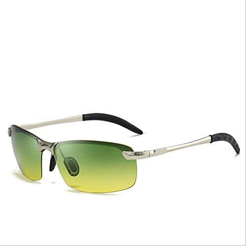 CASEY-L Herren Sonnenbrillen, Klassische Brillen Outdoor Fahrspiegel Polarisator Metallrahmen Sport Exklusive Mode Persönlichkeit H