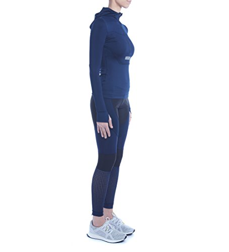 Adidas By Stella McCartney Femmes Courir Collant Long Noir & Marine Noir & Marine