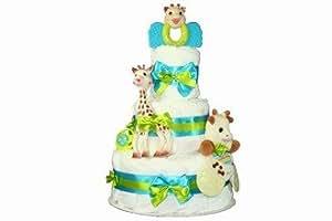 Coco et Poupette - Gâteau de couches Sophie la Girafe - Cadeau de naissance