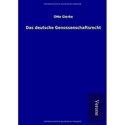 Das deutsche Genossenschaftsrecht