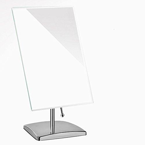 TANG CHAO Spiegel Europäische Stil Oversized Square Desktop Einzelne Spiegel, Klappspiegel, Spiegel Make-up-Spiegel, Dressing Spiegel, 12 Zoll (Farbe : Silber)