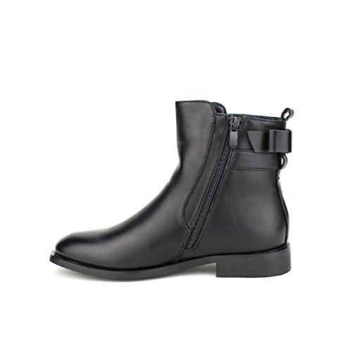 Cendriyon Bottine Noire Super Mode Chaussures Femme Noir