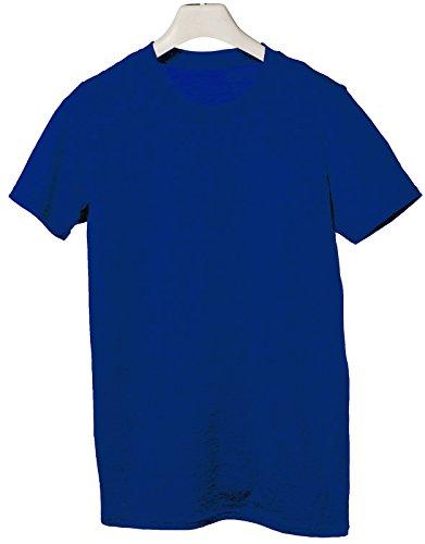 Tshirt SEMPLICE DELLA FRUIT OF THE LOOM DI ALTA QUALITA'- maglietta - Tutte le taglie by tshirteria Blu