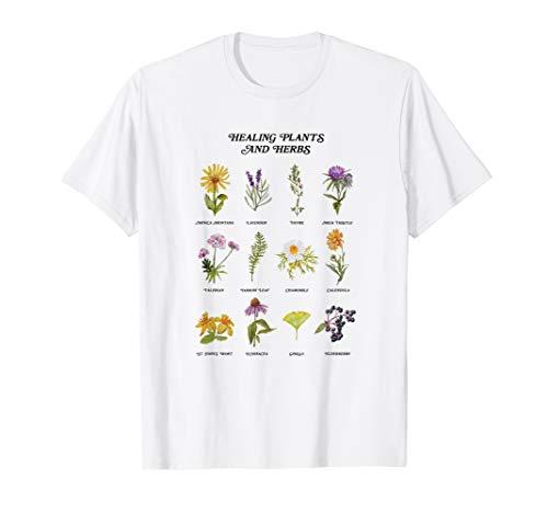 Heilpflanzen und Kräuter Wild Flower böhmischen Garten T-Shirt -