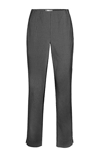 Stehmann - Stretchhose INA 740 - VIELE FARBEN - Mit EXTRA-Fashion Armreif -Gerade geschnittene Pull-On Hose mit Schlitz, Hosengröße:46, Farbe:Grau - graphit