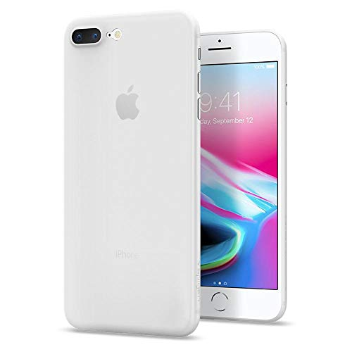 Spigen 055CS22593 Air Skin Kompatibel mit iPhone 8 Plus Hülle, Ultra Dünn Federleicht Handyhülle Matte Schutzhülle Slim Case Soft Clear -