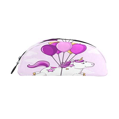 hen, niedliches Einhorn-Luftballon-Reißverschluss, Stiftehalter, multifunktional, Kosmetik, Make-up-Tasche für Mädchen, Jungen, Erwachsene, Frauen, Herren, Unisex ()
