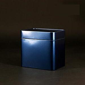 Petite boîte de rangement rétro Boîte de fer-blanc de thé de bidon de thé de pot de voyage portatif créatif (bleu)
