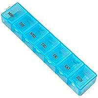 Preisvergleich für OUNONA 7Tage Weekly Pille Medizin Aufbewahrungsbox Behälter Spender Fall (zufällige Farbe)