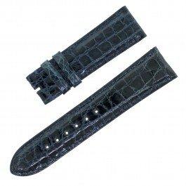 Piaget 20–18mm Leder navy blau Herren Uhrenarmband