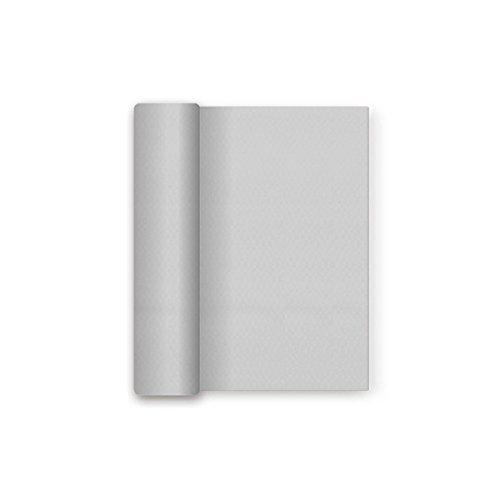 Tovaglia di carta di Natale con la pellicola impermeabile - Colore Argento Metallizzato - 1,2 x 5 m