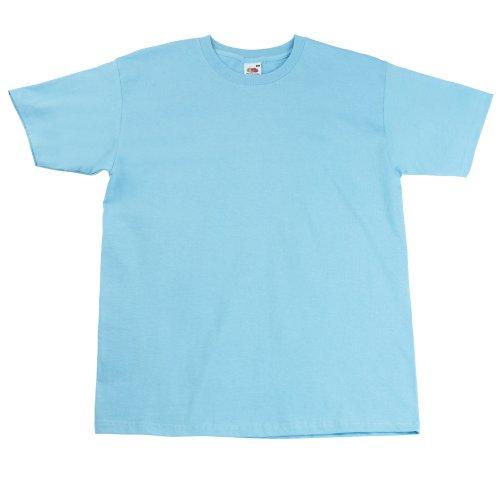 Fruit of the loom - maglietta 100% cotone - uomo (l) (azzurro cielo)