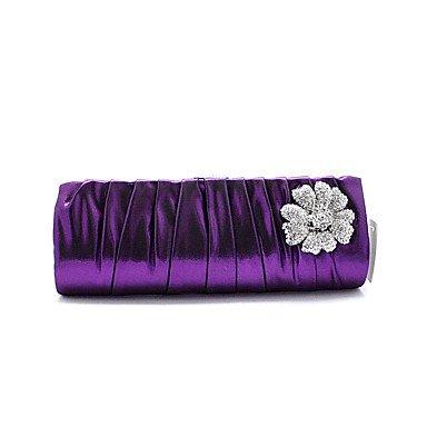 Damenmode Blume falten PU Abendessen Tasche Purple