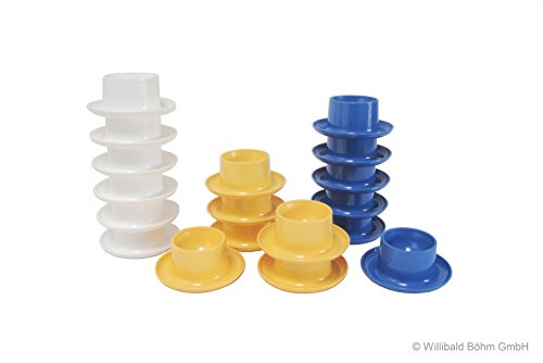 Eierbecher rund, 6-er Pack, weiß - Sonja-PLASTIC - Made in Germany