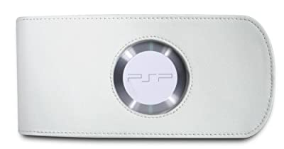 Powerplay White Leather Protective Case and Screen Wipe (PSP) by Competition Pro