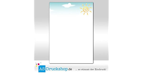 90 g-Offsetpapier 100 Blatt DIN A4 Sunny Designpapier Sommer