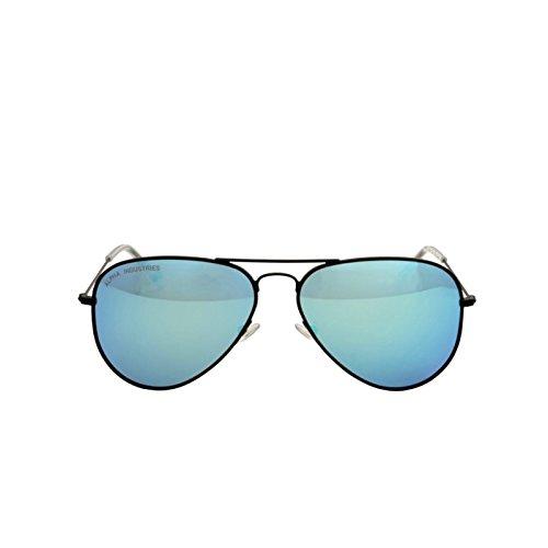 Alpha Industries Top Gun Sunglasses verspiegelte Sonnenbrille klassische Pilotenbrille Top Gun Movie neu, color frame/shades:black/blue