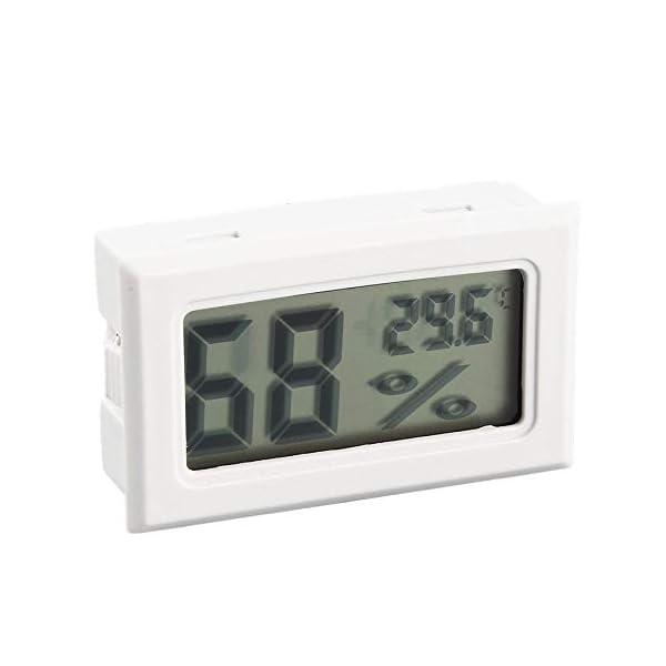 RoadRoma Mini LCD Digital termómetro higrómetro medidor de Temperatura de Humedad Interior (Blanco) 2