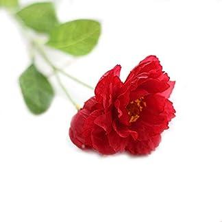 Rocita Flores Artificiales de Amapola Realista para Interiores y Exteriores, decoración para el hogar o el jardín, 1 Pieza, Color Rosa y Rojo