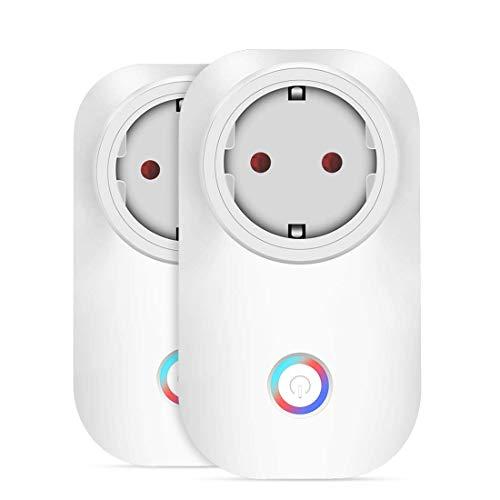 Leyuee Presa Wi-Fi Presa Smart Plug 2Pcs Funziona con Amazon Alexa Echo di Wireless Smart Socket Remote Control i Dispositivi per Dispositivi Android di iPhone