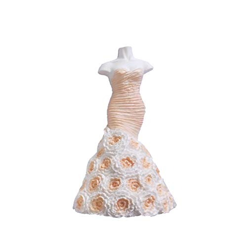 Momangel DIY 3D Hochzeit Prinzessin Kleid Silikon Muffins Form Antihaft Süßigkeiten Schokolade...