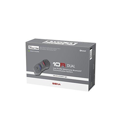 Sena 10R-01D Flaches Bluetooth Headset und Sprechanlage für Motorräder - Dopplepack, Schwarz Moto Bluetooth-headset