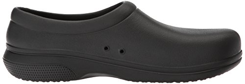 Crocs On The Clock Work Slipon, Mocassini Unisex-Adulto Nero (Black)