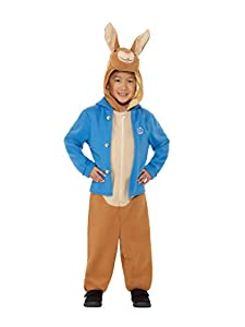 Smiffys 48732S Disfraz de Peter Rabbit de lujo, unisex para niños