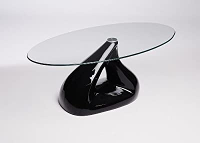 Designer Pyramid Clear Glass Coffee Table