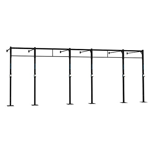 CAPITAL SPORTS Dominate W 694.150 Wall Mount Wandmontage Power Rack Gym Rig Cross-Training Functional-Training Double-Bar Single-Bar Klimmzugstange 694 x 270 x 150 cm (J-Cups 7 x Pull-Up 3 x Squat Station) Stahl schwarz