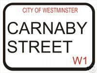 1704 EXTRA GRANDE CARNABY STREET CIUDAD DE WESTMISTER PUBLICIDAD SIGNO DE PARED RETRO METAL ART