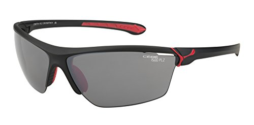 1f91212e1 Cebe Cinetik Cinetik Sunglasses Lenses 1500 Grey PC Polarized AR Silver  Flash Mirror - Matt Black Red, L