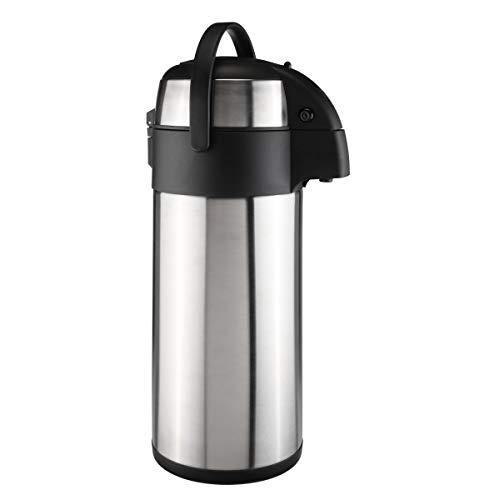 bonsport Airpot Kaffeekanne 5 Liter mit Pumpmechanismus, Pumpkanne doppelwandig aus Edelstahl