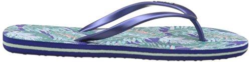 O'Neill Damen Fw Printed Flip Flop Dusch-& Badeschuhe Blau (BLUE Allover Print W/ GREEN)