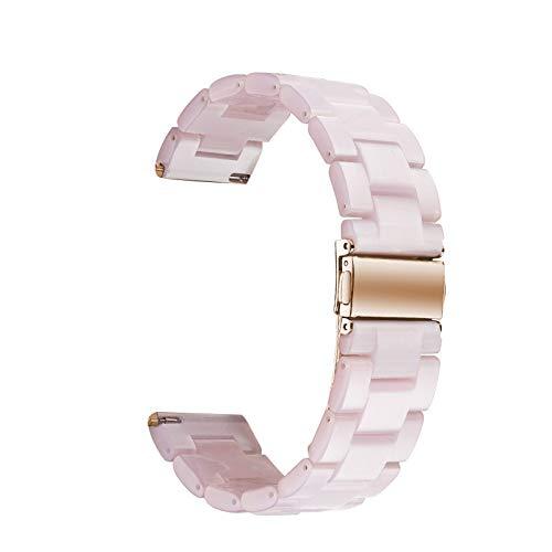WAOTIER für Apple Watch 42mm Armband Acetate Ersatzarmband Retro Armband für Apple Watch Series 3 Series 4 mit Edelstahl Verschluss Kompatibel iWatch 42mm für Frauen Männer (Muster F)