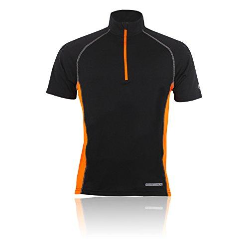 Higher State Half Reißverschluss Kurzarm Laufen T-Shirt Black