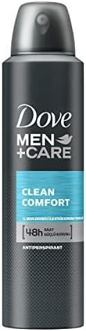 Dove Anti-Perspirant Sprey Deodorant Erkek Clean Comfort 48 Saat Güçlü Koruma 150 ml