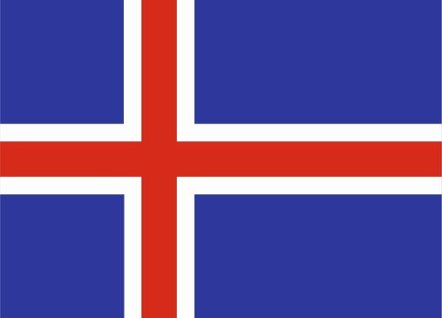 Autoaufkleber Sticker Fahne Flagge Aufkleber 10cm Island laminiert sehr lange Haltbar -