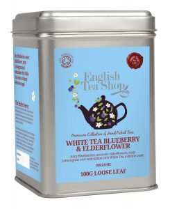English Tea Shop Thé Blanc Fleur de Sureau Myrtille Bio Vrac 100 g