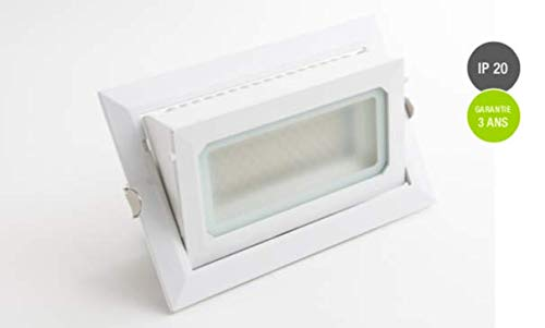 DOWNLIGHT LED RECTANGULAIRE 40W - ENCASTRABLE (3000°K BLANC CHAUD)