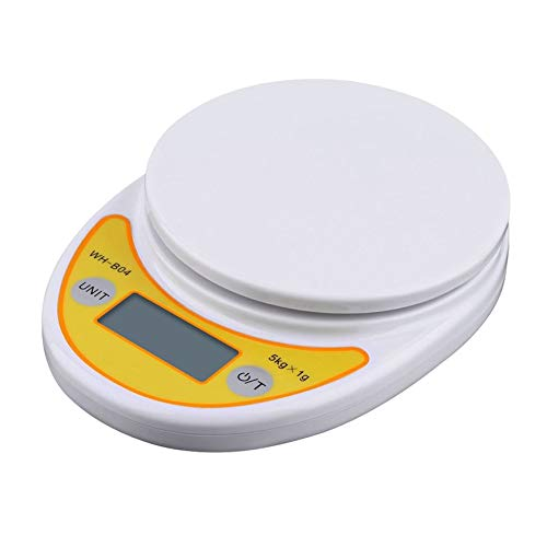PeanutaocAC WH-B04 5kg / 1g LCD Digitale Elektronische Küchenwaage für das Wiegen von Lebensmittelwaagen