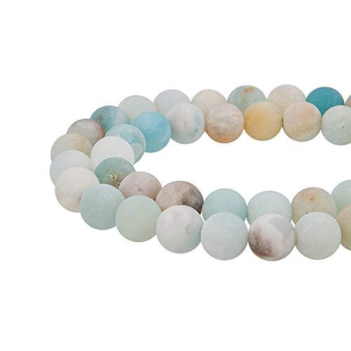 Nbeads 5fili da perla rotonda naturale fili per fare gioielli,8- 8.5mm, foro: 1mm mix color amazonite