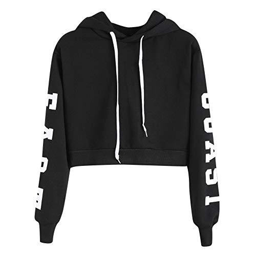 ZWXIN Langarm Hoodie Sweatshirt Pullover Tops Bluse, Frauen Buchstaben - Polo Ralph Lauren Mädchen-hosen