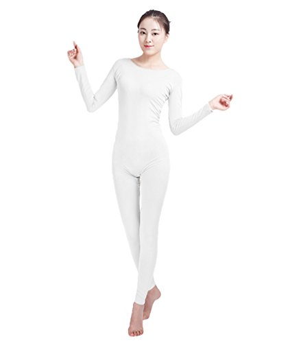 NiSeng Erwachsener und Kind Zentai Ganzkörperanzug Kostüm Ganzkörperanzug Fasching Bodysuit Kostüm Weiß M (Weißer Bodysuit Kostüm)