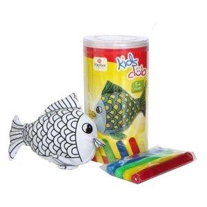 Rayher Hobby RAYHER 7551400 Stofftier, Fisch zum Bemalen, PVC-Box 1 Tier und 4 Stifte, 12 cm (4-tier-box)