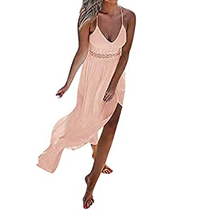 DQANIU- 💄💄Partykleid, Kleidung Schuhe & Accessoires – Kleid Damen Sommer Spitze Boho Lang Maxi Abend Party Strandurlaub…